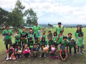 富士山の麓で集合写真